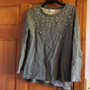 Sweater with pearl embellishments
